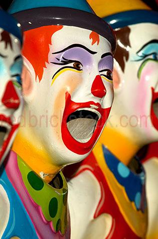 laughing clowns;clowns;fair;sideshow;sideshow alley;ekka;royal national show;rna;fun park