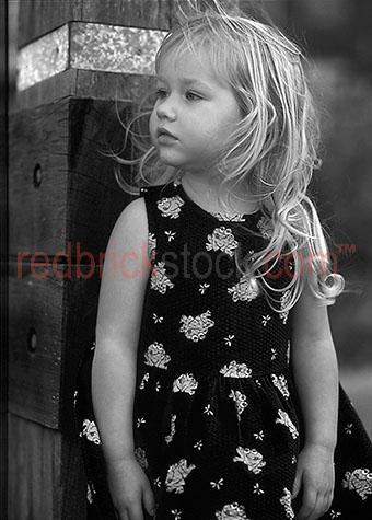 little girl young child daughter blonde blond outside portrait b
