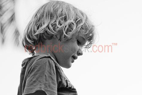 young boy boys child children kid kids family small profile B&W