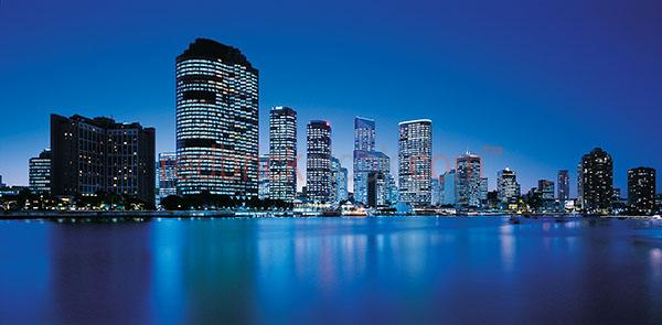 Brisbane cbd night twilight city cityscape cities capital queens