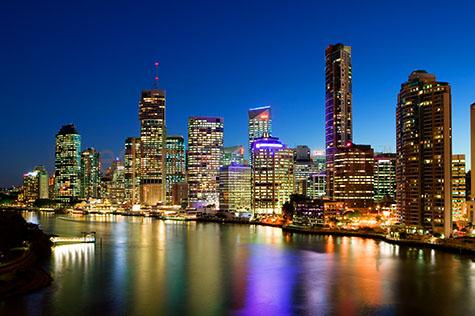 brisbane city;cities;city;cbd;metro;metropolitan;queensland;qld;capital city;building;buildings;architecture;skyline;lights;night;city lights