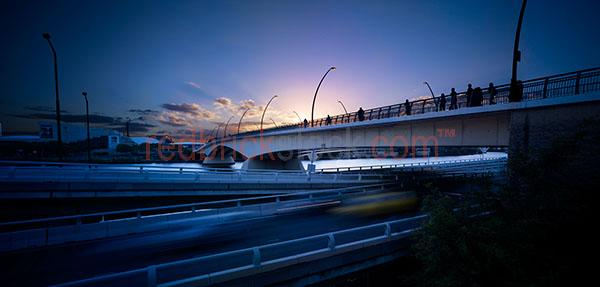 bridge bridges cities twilight night dusk river brisbane victori