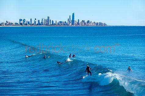 cityscape;city;cities;gold coast;surf;surfing;ocean;coastal;people;ocean;sea;wave;waves;lifestyle
