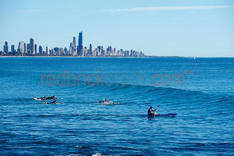 gold coast;queensland;coastal;city;cities;watersports;water sports;canoeing;canoe;surfing;surf;surfers;ocean