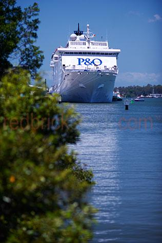 p&o;p & o;pacific sun;cruiseliner;cruiseliners;cruise liner;cruise liners;cruise ship;cruise ships;passenger ship;passenger ships;holiday;holidays;vacation;vacations;brisbane;capital city;capital cities;australia;australian;queensland;port;ports;dock;docks;docked;travel;travels;travelling;traveling;travelled;luxury;relaxation;relax;relaxing;transportation;transport;transporting;vessel;vessels;tourism;tourist;tourists;blue sky;blue skies;ancored;moored;portside;port side;mangrove;mangroves;tree;trees;selective focus