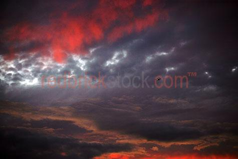 tiger moth storm cloud clouds cumulus skies sky plane red mood m
