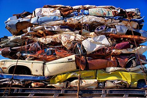 crushed cars car scrap metal recycling recycle industrial