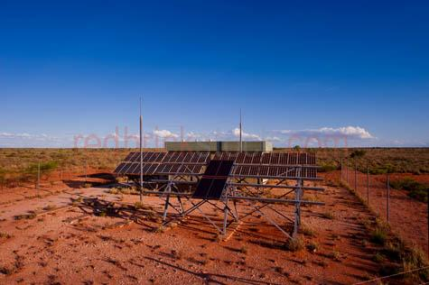 western australia;wa;australia;communications;outback;solar;solar power;solar powered;solar energy;power;remote;blue sky;blue skies;desert;station;self-powered;facility