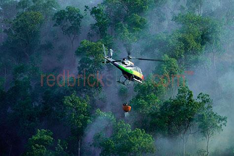 helicopter chopper fire control flight bush smoke bushfire fire