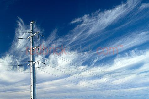 power pole powerpole dramatic clouds cirrus whispy electricty gr