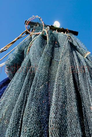 fishing net;fishing nets;net;nets;fishing;commercial fishing;rigging;fishing boats;trawlers;fishing trawlers;prawn trawler;boats;fishing industry;bay;bays;blue sky;day;daytime;copyspace;copy space;textspace;text space;harbor;harbours;harbors