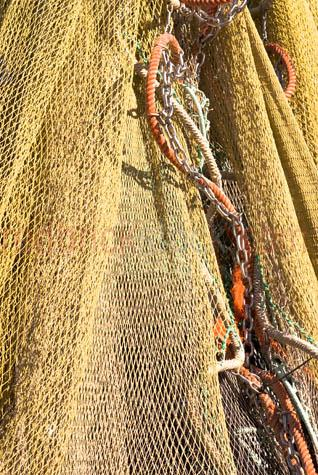 fishing net;fishing nets;prawn net;prawn nets;net;nets;fishing;commercial fishing;rigging;fishing boats;trawlers;fishing trawlers;prawn trawler;boats;fishing industry;bay;bays;blue sky;day;daytime;copyspace;copy space;textspace;text space;harbor;harbours;harbors