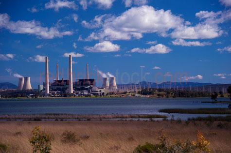 liddel power station;macquarie generation;power stations;power generation;electricity grid;pylons;coal fired power staion;coal powered power station;coal powered generator;stack;stacks;smole stacks;chiminey;chimineys;lake liddel;muswellbrook;singleton;hunter valley;new south wales;nsw;carbon;carbon trading;environment;environmental;climate change;blue sky;blue skies;cloud;clouds;swans