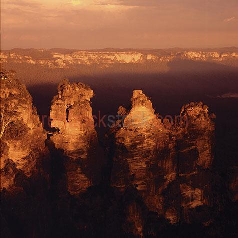 three sisters blue mountains national park nsw new south wales p