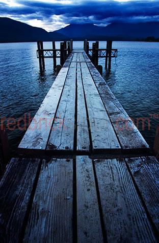 pier jetty lake timber new zealand water river moody journey lan