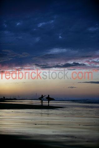 surf surfer surfers gold coast sunset end of day dusk beach ocea