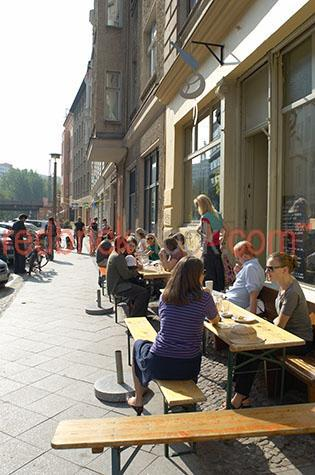 berlin germany street cafe dining students young people coffee f