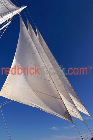 sail;sails;three;3;trio;blue sky;blue skies;boat;boats;boating;yacht;yachts;yachting;sailboat;sailboats;sail boat;sail boats;marine;nautical;rope;ropes;wind;windy