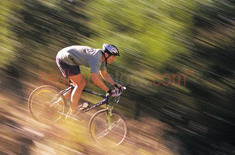 cyclist mountain bike cross country off road bush helmut riding