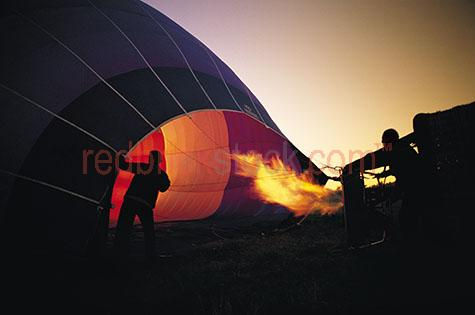 inflate inflating hot air balloon dawn fire flight recreation ri