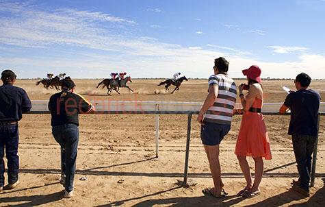 birdsville races;race;outback;rodeo;horse;horses;queensland;qld;australian;aussiedry soil;country;watching a horse race;horses racing;racehorse;race horse;spectators;spectator