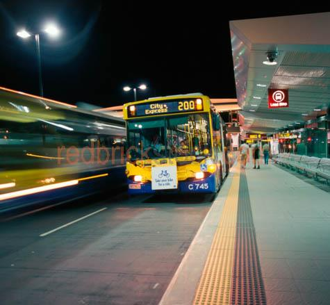 city;bus;at;night;stop;station;terminal;bcc;brisbane;city;counci;