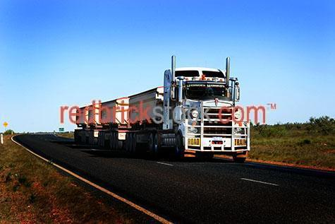 road train;roadtrain;truck;trucks;truck on highway;transportation;transport;semi trailor;prime mover;outback;high way