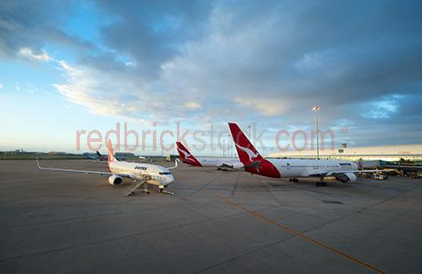 qantas;jet star;flight;flights;plane;aeroplane;planes;jet;aircraft;jumbo;boeing;terminal;airport;air port;passenger flight;travel;travelling;transportation;transport;airliner;airline;company;subsidiary;airways;fleet;runway;tarmac;brisbane airport;refueling