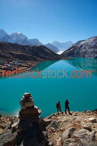 scenics;scenic;travel;travels;travelling;traveling;travelled;traveled;landscapes;landscape;himalaya;himalayan;himalayas;mountains;mountain;mountainous;lake;lakes;3rd lake;third lake;cholatse;tabuche;taboche;kangtega;thamserku;mount;mt;mounts;trails;trail;trek;treks;trekking;trekked;trekker;trekkers;trekked;hike;hikes;hiking;hiker;hikers;adventure;adventures;adventuring;sunny;sunshine;blue sky;blue skies;clear day;nepali;nepal;nepalese;khumbu;himal;people;person;two people;2 people;figure;figures;rock;rocks;rocky;asia;asian;south asia