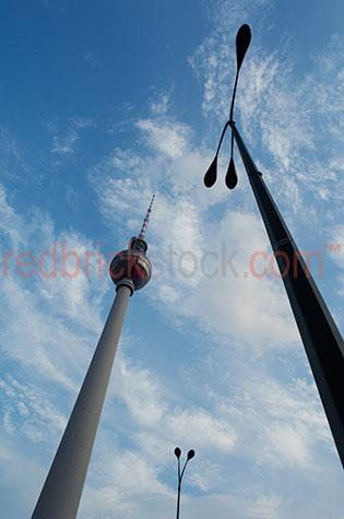 television tower light pole germany europe berlin monument iconi