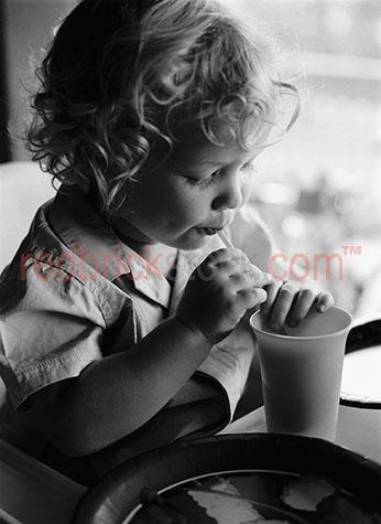 child young drinking drink black white blonde boy little curly h