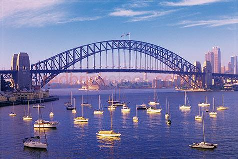 sydney harbour bridge cityscape cityscapes boats yaughts austral