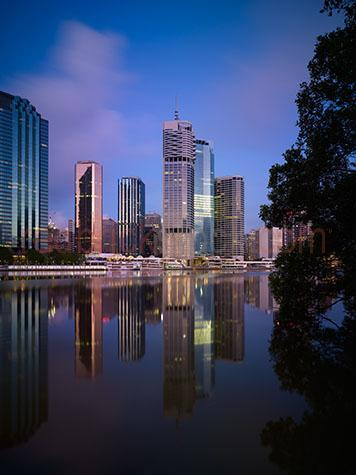 brisbane;brisbane city;central business district;cbd;brisbane cbd;brisbane central business district;river;rivers;brisbane river;metro;metropolitan;buildings;building;riparian plaza;waterfront place;riverside centre;amp tower;111 eagle street;eagle st;cox rayner architects;towers;glass;reflecting;reflections;water;water reflection;water reflections;cities;cityscape;cityscapes;cities;queensland;australia;harry siedler architect;blue sky;blue skies;early morning;dawn;paddle steamer;paddle steamers;kookaburra queen;ferry;ferries;cross river ferry;cross river ferries;boat;boats;sail boat;sail boats;moored;ferry terminal;ferry terminals;kangaroo point ferry terminal;