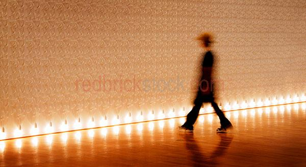person;people;one person;blurred;blur;move;movement;moving;person moving;person blurred;blurred person;gallery;art gallery;light;illuminated;artwork;art works;art works;artworks;profile of person;conceptual;surreal;wall;walls;person walking to wall;person walking to walls;walks;walking;stride;person striding;ghost;ghosts;walking into walls;artistic;creative