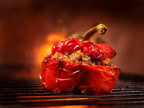 roasted;roast;roasts;roasting;cook;cooks;cooking;cooked;stuffed;red;reds;colour red;color red;pepper;peppers;red pepper;red peppers;capsicum;capsicums;red capsicum;red capsicums;prepare;prepares;preparing;prepared;vegetable;vegetables;veg;veggie;veggies;bbq;barbecue;barbeque;bbqs;barbecues;barbeques;flame;flames;fire;fires