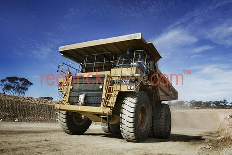 mine mining truck semi semi-truck construction quarry transport