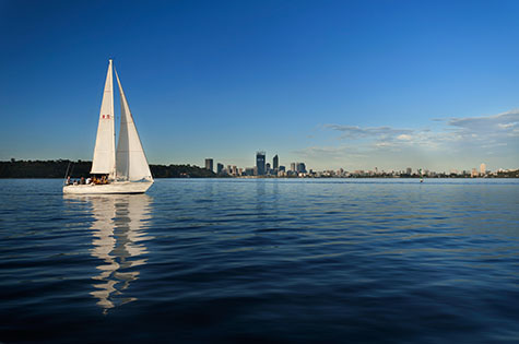 swan river;perth;western australia;wa;australia;australian;aus;river;rivers;water;wet;sail;sails;sailing;sail boat;sail boats;sailing boat;sailing boats;yacht;yachts;white yacht;white yachts;white sail boat;white sail boats;white sailing boat;white sailing boats;sailing on the swan river;city;cities;capitol city;capital city;australian capitol city;australian capital city;perth city;perth cityscape;cityscape;cityscapes;skyline;skylines;city skyline;city skylines;perth skyline;perth skylines;perth city skyline;perth city skylines;reflection;reflections;water reflection;water reflections;twilight;twilight sailing;summer;summer time;summertime;blue;blues;colour blue;color blue;copyspace;copy space;textspace;text space;recreation;recreational;recreational activity;recreational activities;blue sky;blue skies