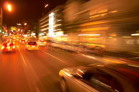 traffic;moving;night;cars;streaking;blurred;driving;ann;st;stree;