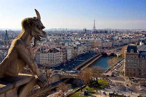 eiffel tower;gargoyle;notre dame;river;seine;tour d'eiffel;gargoyles;city of france;paris;europe;european city;european cities;icon;iconic;landmark;landmarks;historic;french;architecture;architectual;french skyline;france skyline;gothic;gothica;statue;gargoyle statues;gargoyle statue;statues;culture;cultural