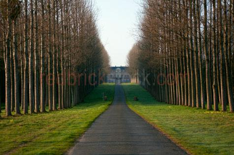 chateau;chateaus;castle;castles;la balliere;digny;france;french;pastoral;pastoral estate;estate;estates;trees;deciduous;deciduous trees;colonnade;colonnade of trees;garden;gardens;lawn;lawns;manicured;manicured gardens;manicured garden;aristocratic;aristocracy;bourgeoisie;bourgeoise;wealth;wealthy;rich;upper class;upperclass;driveway;driveways;long driveway;approach;autumn;autumn scene;winter;wintery;winter scene;scenic;scenery