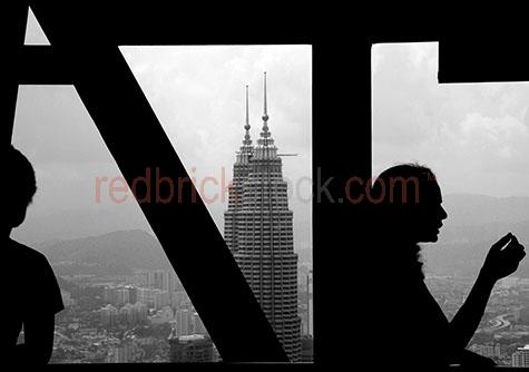 petronas towers tower building buildings people silhouetted silh